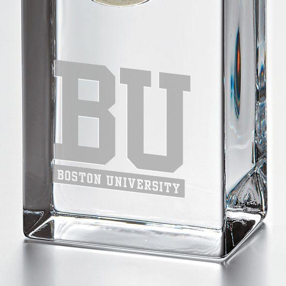 Boston University Tall Glass Desk Clock by Simon Pearce - Image 2