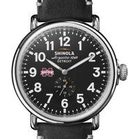 MS State Shinola Watch, The Runwell 47mm Black Dial