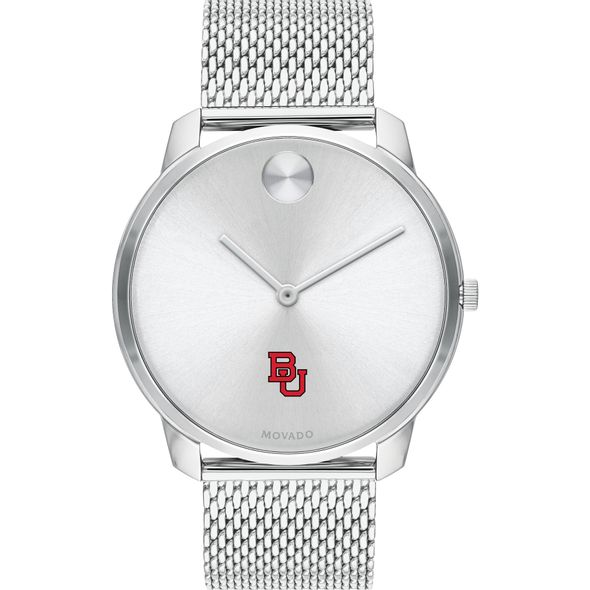 Boston University Men's Movado Stainless Bold 42 - Image 2