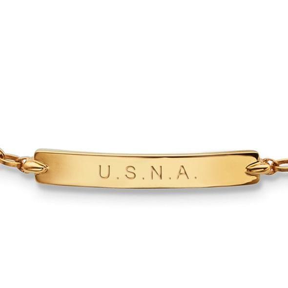 Naval Academy Monica Rich Kosann Petite Poesy Bracelet in Gold - Image 2