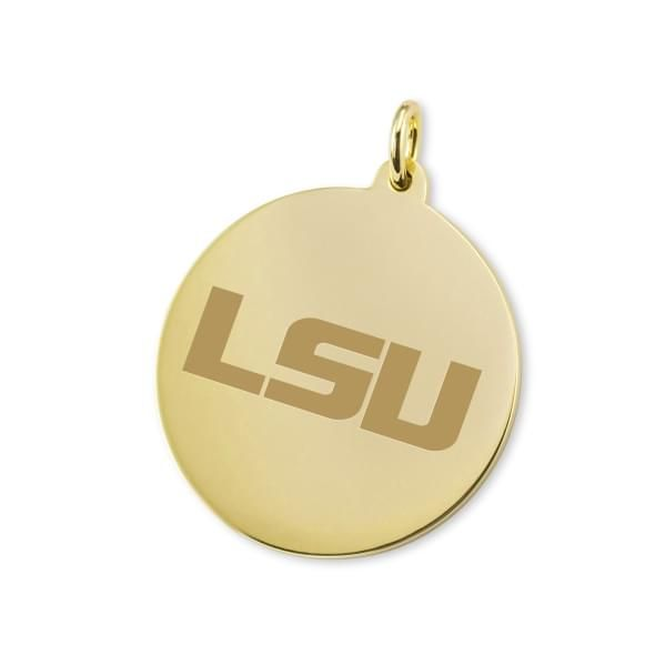 LSU 18K Gold Charm - Image 1