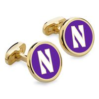 Northwestern Enamel Cufflinks