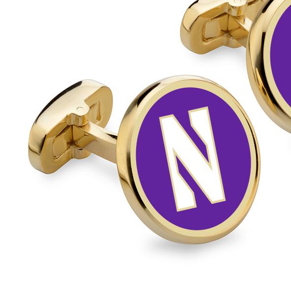 Northwestern Enamel Cufflinks - Image 2