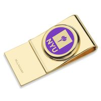 New York University Enamel Money Clip