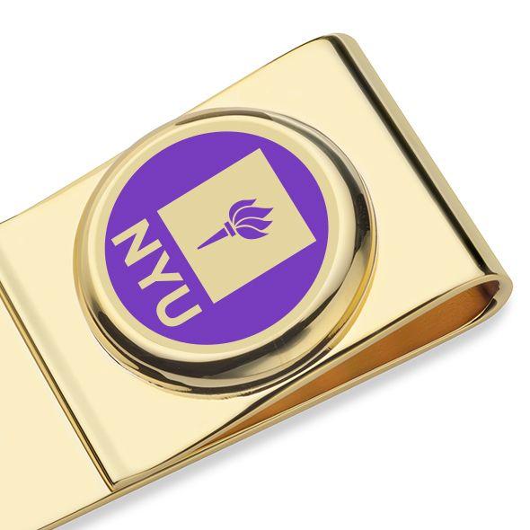 New York University Enamel Money Clip - Image 2