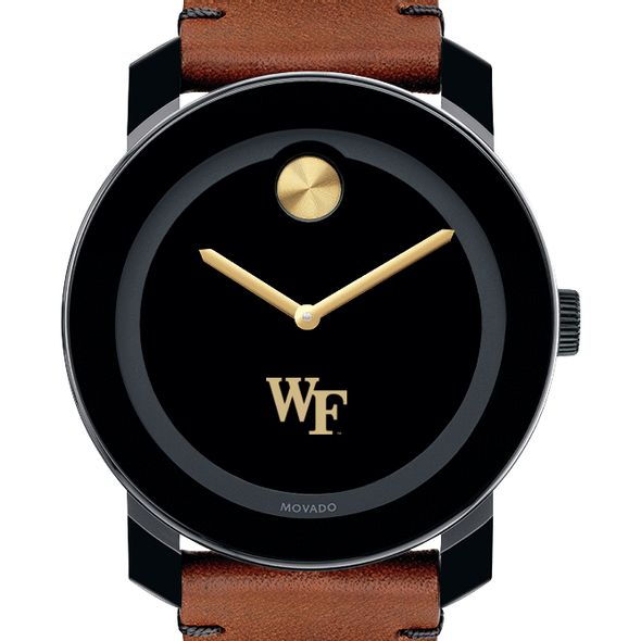 Wake Forest University Men's Movado BOLD with Brown Leather Strap