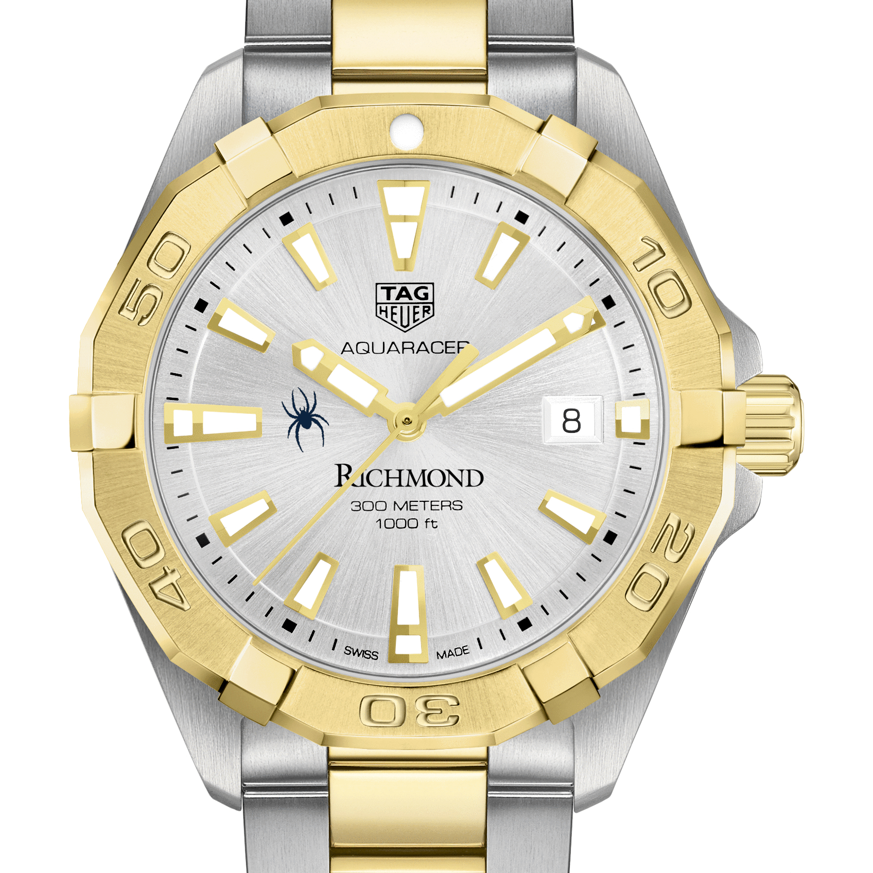 University of Richmond Men's TAG Heuer Two-Tone Aquaracer - Image 1