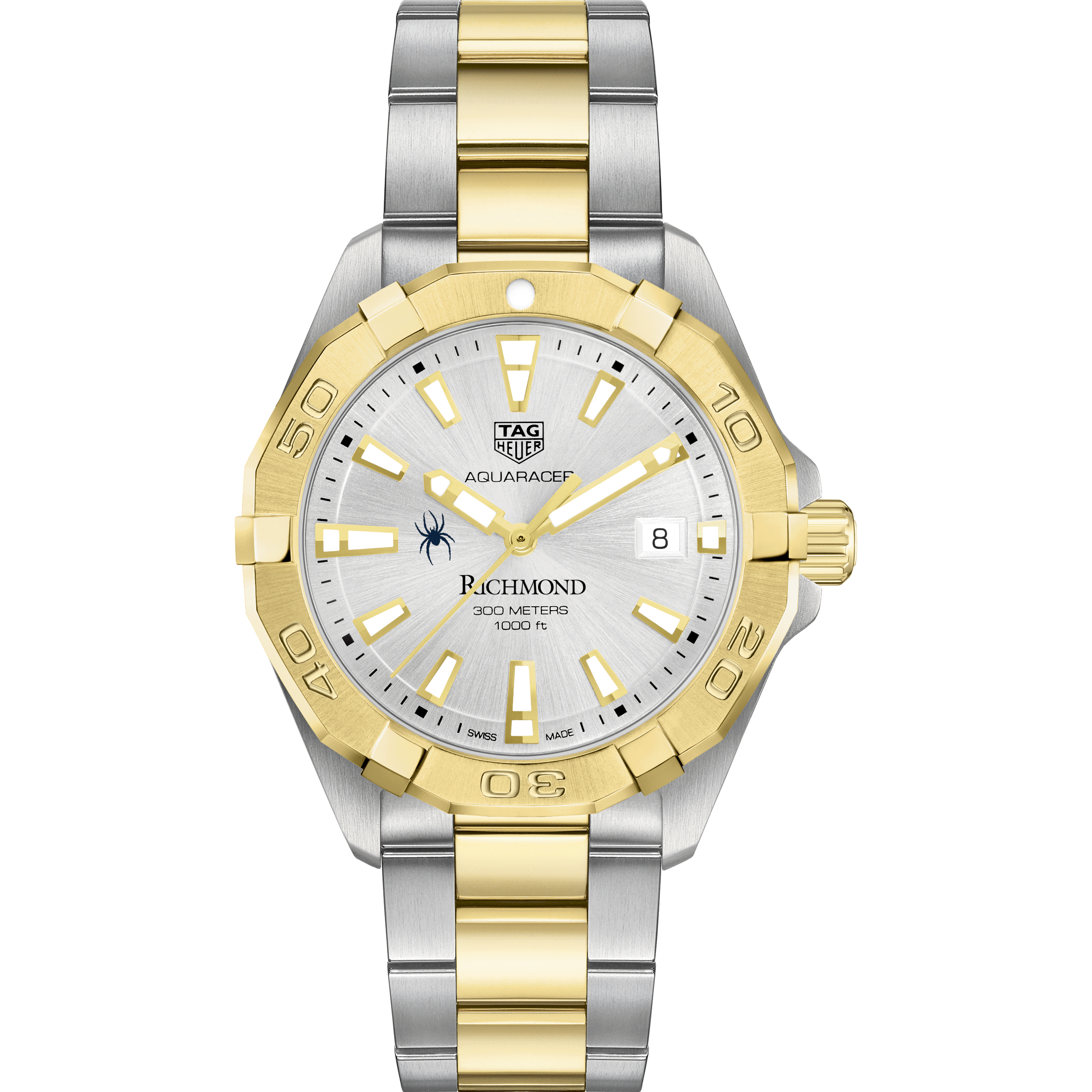 University of Richmond Men's TAG Heuer Two-Tone Aquaracer - Image 2