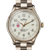 Brown Shinola Watch, The Vinton 38mm Ivory Dial