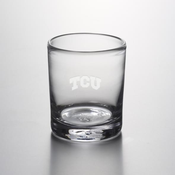 TCU Double Old Fashioned Glass by Simon Pearce