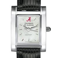 Alabama Women's Mother of Pearl Quad Watch with Leather Strap