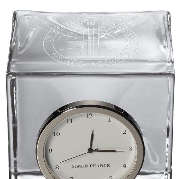 NC State Glass Desk Clock by Simon Pearce - Image 2