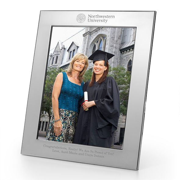 Northwestern Polished Pewter 8x10 Picture Frame