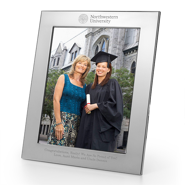 Northwestern Polished Pewter 8x10 Picture Frame