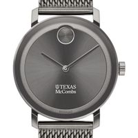 McCombs School of Business Men's Movado BOLD Gunmetal Grey with Mesh Bracelet