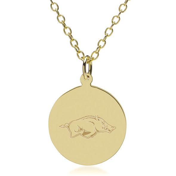 University of Arkansas 14K Gold Pendant & Chain