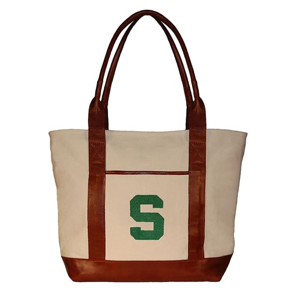 Michigan State Needlepoint Tote