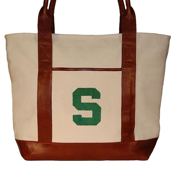 Michigan State Needlepoint Tote - Image 2