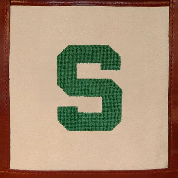 Michigan State Needlepoint Tote - Image 3