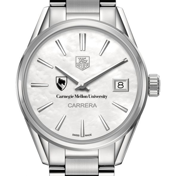 Carnegie Mellon University Women's TAG Heuer Steel Carrera with MOP Dial - Image 1