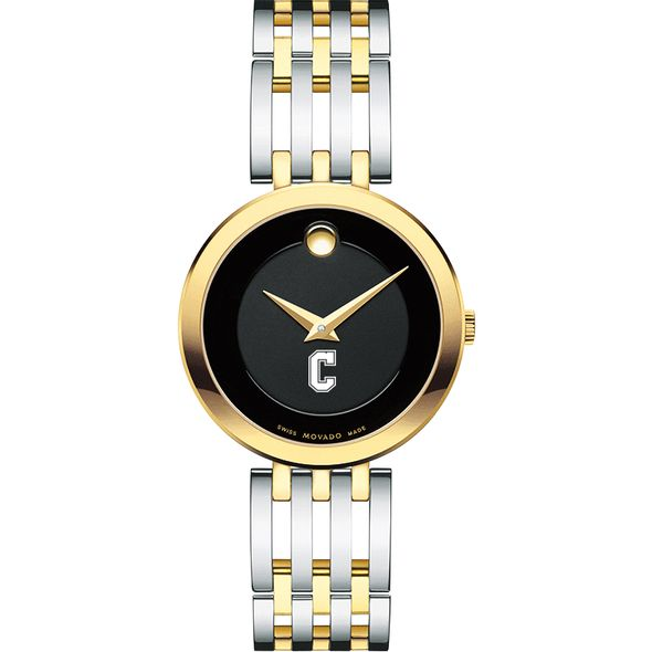 College of Charleston Women's Movado Esparanza Two-Tone Museum with Bracelet - Image 2