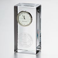 NC State Tall Glass Desk Clock by Simon Pearce