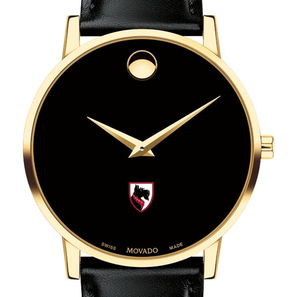 Carnegie Mellon University Men's Movado Gold Museum Classic Leather