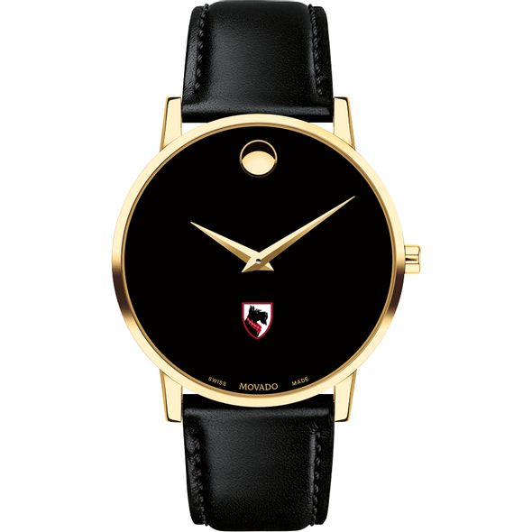 Carnegie Mellon University Men's Movado Gold Museum Classic Leather - Image 2