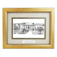 East Tennessee State University Black Ink Gold Frame