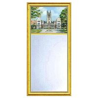 Boston College Eglomise Mirror with Gold Frame