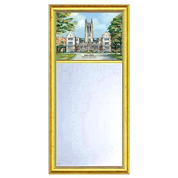 Boston College Eglomise Mirror with Gold Frame - Image 1