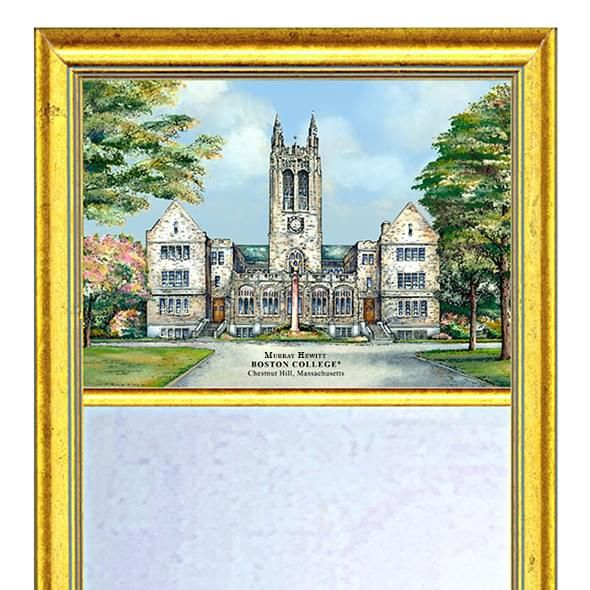 Boston College Eglomise Mirror with Gold Frame - Image 2