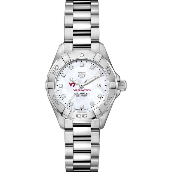 Virginia Tech W's TAG Heuer Steel Aquaracer w MOP Dia Dial - Image 2