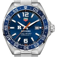 Rutgers University Men's TAG Heuer Formula 1 with Blue Dial & Bezel