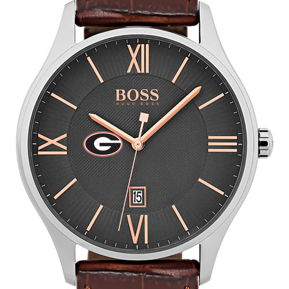 University of Georgia Men's BOSS Classic with Leather Strap from M.LaHart