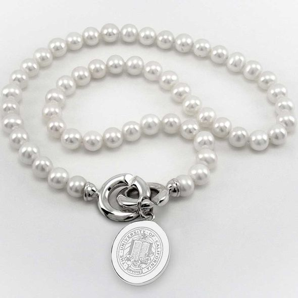 UC Irvine Pearl Necklace with Sterling Silver Charm