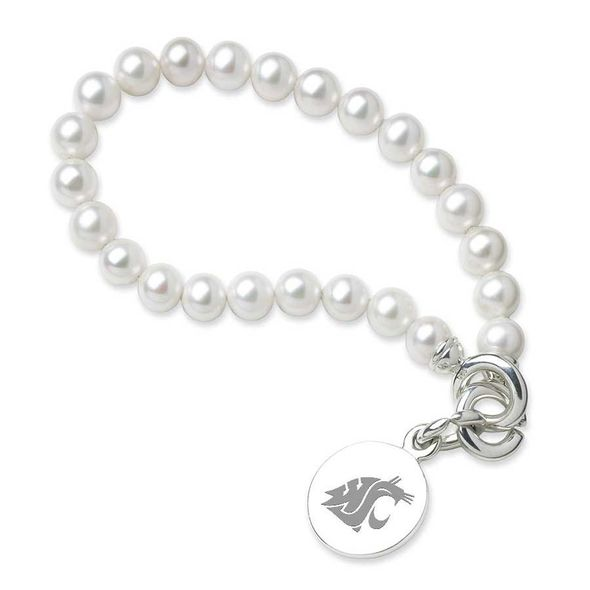 Washington State University Pearl Bracelet with Sterling Silver Charm