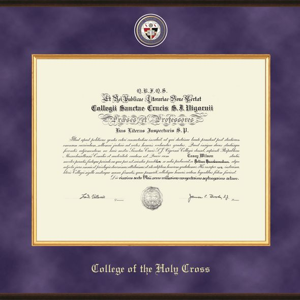 Holy Cross Excelsior Diploma Frame - Image 2