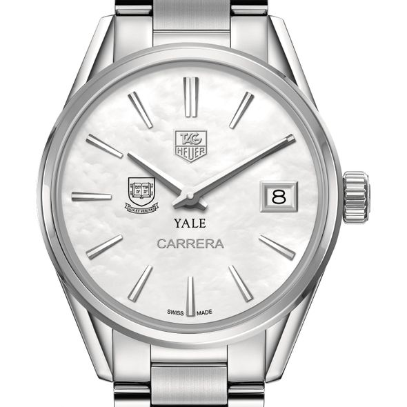 Yale University Women's TAG Heuer Steel Carrera with MOP Dial