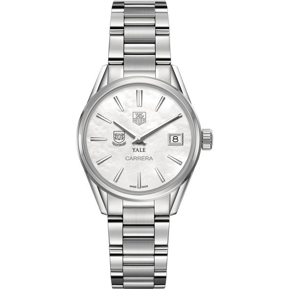 Yale University Women's TAG Heuer Steel Carrera with MOP Dial - Image 2