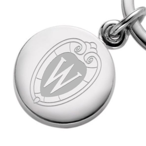 Wisconsin Sterling Silver Insignia Key Ring - Image 2