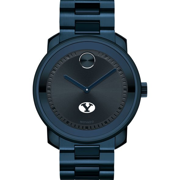 Brigham Young University Men's Movado BOLD Blue Ion with Bracelet - Image 2