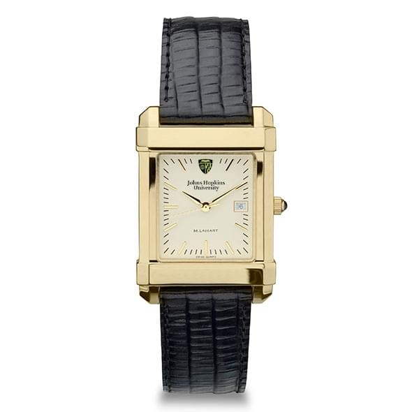 Johns Hopkins Men's Gold Quad Watch with Leather Strap - Image 2