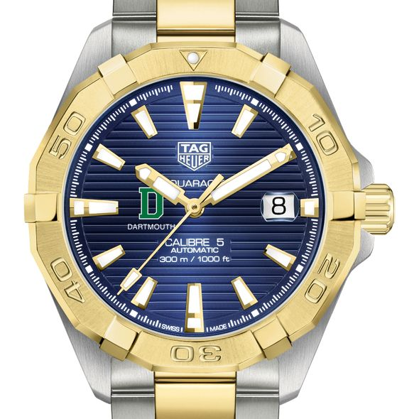 Dartmouth Men's TAG Heuer Automatic Two-Tone Aquaracer with Blue Dial - Image 1