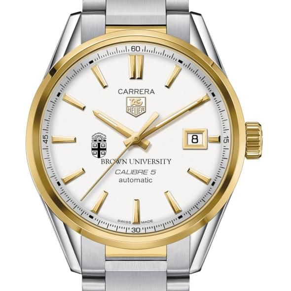 Brown Men's TAG Heuer Two-Tone Carrera with Bracelet