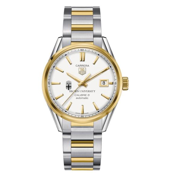 Brown Men's TAG Heuer Two-Tone Carrera with Bracelet - Image 2