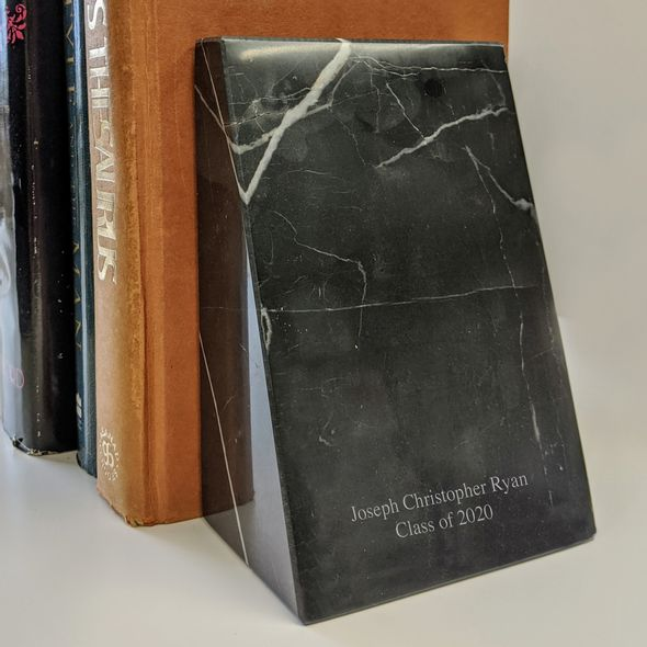 Davidson College Marble Bookends by M.LaHart - Image 3