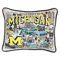 Michigan Embroidered Pillow