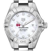 MS State Women's TAG Heuer Steel Aquaracer with MOP Diamond Dial