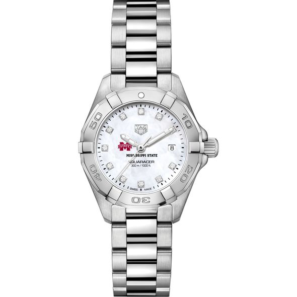 MS State Women's TAG Heuer Steel Aquaracer with MOP Diamond Dial - Image 2